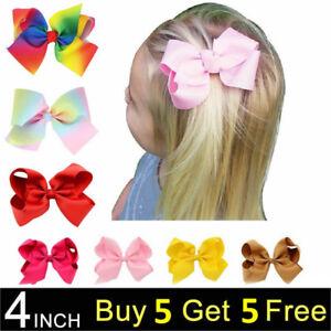 4 INCH BABY BOWS BOUTIQUE HAIR CLIP ALLIGATOR CLIPS GROSGRAIN RIBBON BOW GIRL UK Kleidung, Schuhe & Accessoires Haarschmuck