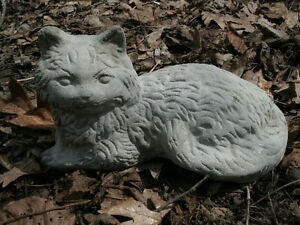 Image Is Loading Vintage Cement 10 034 Lying Cat Garden Classic