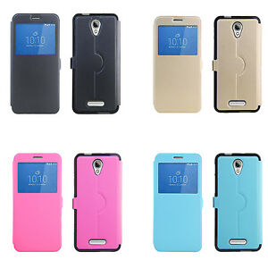 buy popular 4bbe1 f37ff Details about For 4G Optus X Smart Case New Fashion Cover With Window View  For X Smart