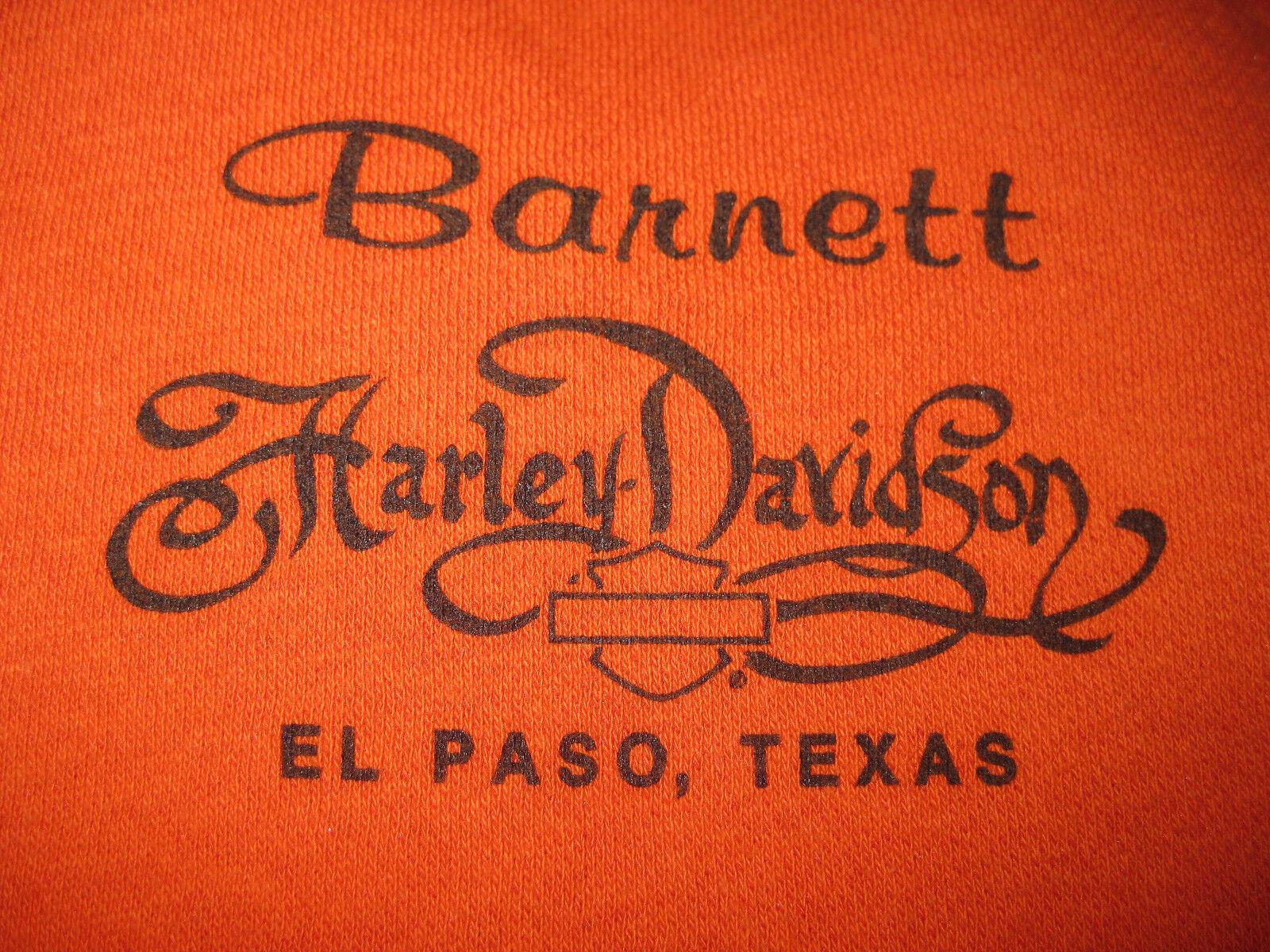 Harley-Davidson Womens orange Long Sleeve Full Zip Sweater M El Paso Texas