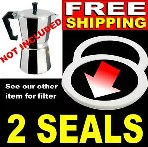 Espresso-Coffee-Pot-Seals-Gasket-NEW-1-2-3-4-6-9-12-cup