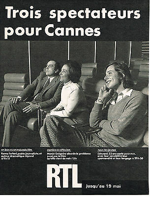 Publicite Advertising 1972 Rtl Radio Remo Forlani Menie Gregoire Big Clearance Sale Collectibles Other Breweriana