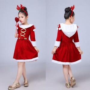 f5592d974 Kids Childrens  Christmas Costume Cosplay Dress for Baby Girls ...