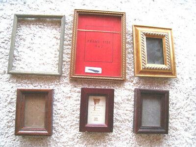 Vintage Connoisseur Wood Photo Frame Quality Wooden Picture Frame Tiny Black Square Details