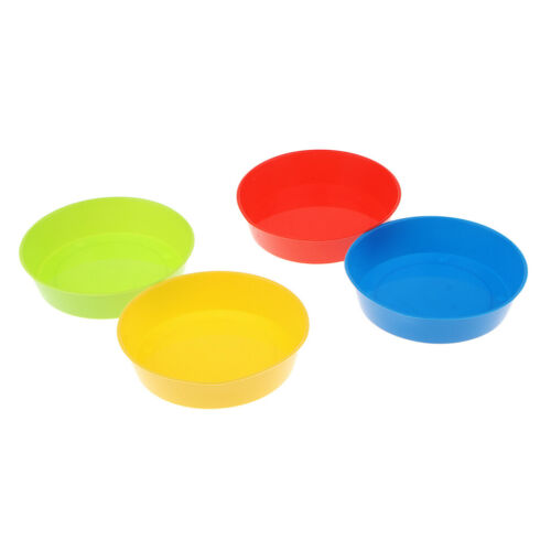 4Pcs bunte Kinder runde Plastikkünstler Aquarell Farben Mischpaletten