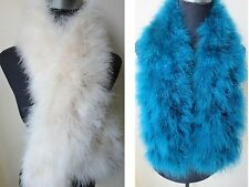 Free shipping/real ostrich feather fur scarf /cape/new  size 110cm*14cm/2color