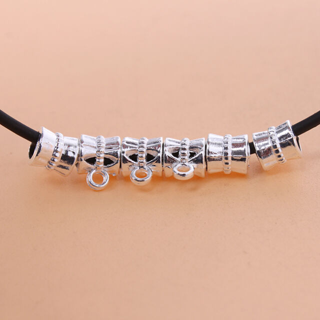 50x Newest Silver Plated Zinc Alloy European Charms Bead Fit Make DIY Bracelet J