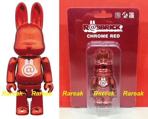 Medicom Be@rbrick Rabbit 100/% Rabbrick Chrome Red Bearbrick R@bbrick 1pc