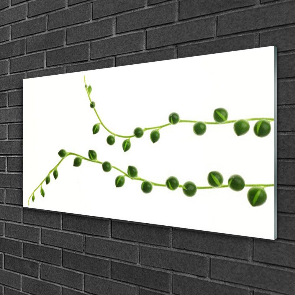 Image sur verre acrylique Tableau Impression 100x50 Floral Plante Ornementale
