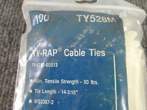 Thomas-amp-Betts-TY528M-Natural-Cable-Tie-Ty-Rap-50-lbs-TS-14-034-10-Pack-of-100