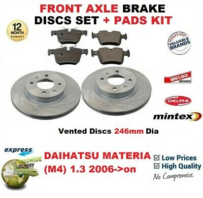 OEM SPEC FRONT DISCS AND PADS 246mm FOR DAIHATSU COPEN 1.3 2006-13