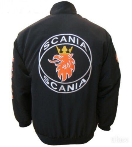 Veste-blouson-Jaquette-SCANIA Racing Team tous logo dans brodery