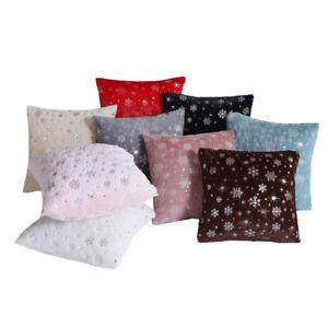 Am-Snowflake-Plush-Throw-Pillow-Case-Cushion-Cover-Sofa-Bed-Car-Cafe-Decor-Myst