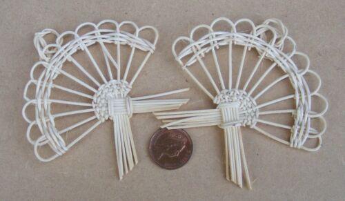 1:12 escala 2 Hecho a Mano formas de mimbre tumdee casa de muñecas en miniatura accesorios Y1
