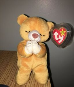 e0821879ccd Image is loading Ty-Beanie-Baby-HOPE-Praying-Bear-Born-March-
