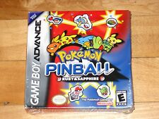 NEW SEALED Pokémon Pinball: Ruby and Sapphire [Game Boy Advance] Pokemon H-seam