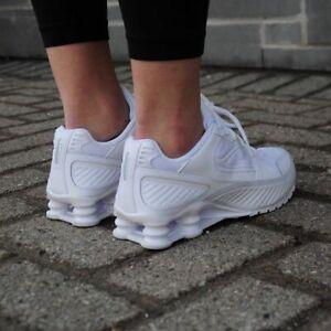 New-Nike-Shox-Enigma-9000-Women-039-s-in-White-White-White-Colour-Size-8