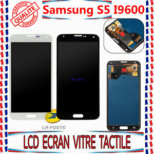 Écran LCD Pour Samsung Galaxy S5 i9600 SM-G900F Tactile Vitre Complet Noir/Blanc