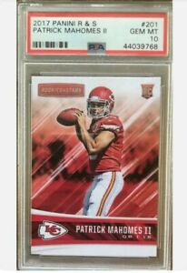 2017-Patrick-Mahomes-Panini-Rookie-And-Stars-R-amp-S-PSA-10-GEM-MINT-RC
