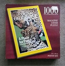 "National Geographic 1996 Magazine Puzzle 1000 19.5"" x 28.25"" Cheetah"