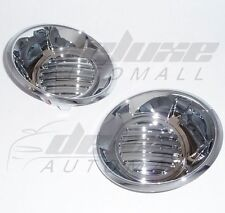 """Chrome """"Stick-On"""" Fog Light Trims Covers FIT Chevy Camaro LS 2010 2011 2012 2013"""