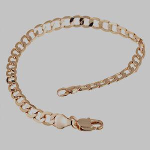 10K-Rose-Gold-Filled-GF-Smooth-Twisted-Link-Bracelet-Bangle-20cm-Long-4mm-Wide