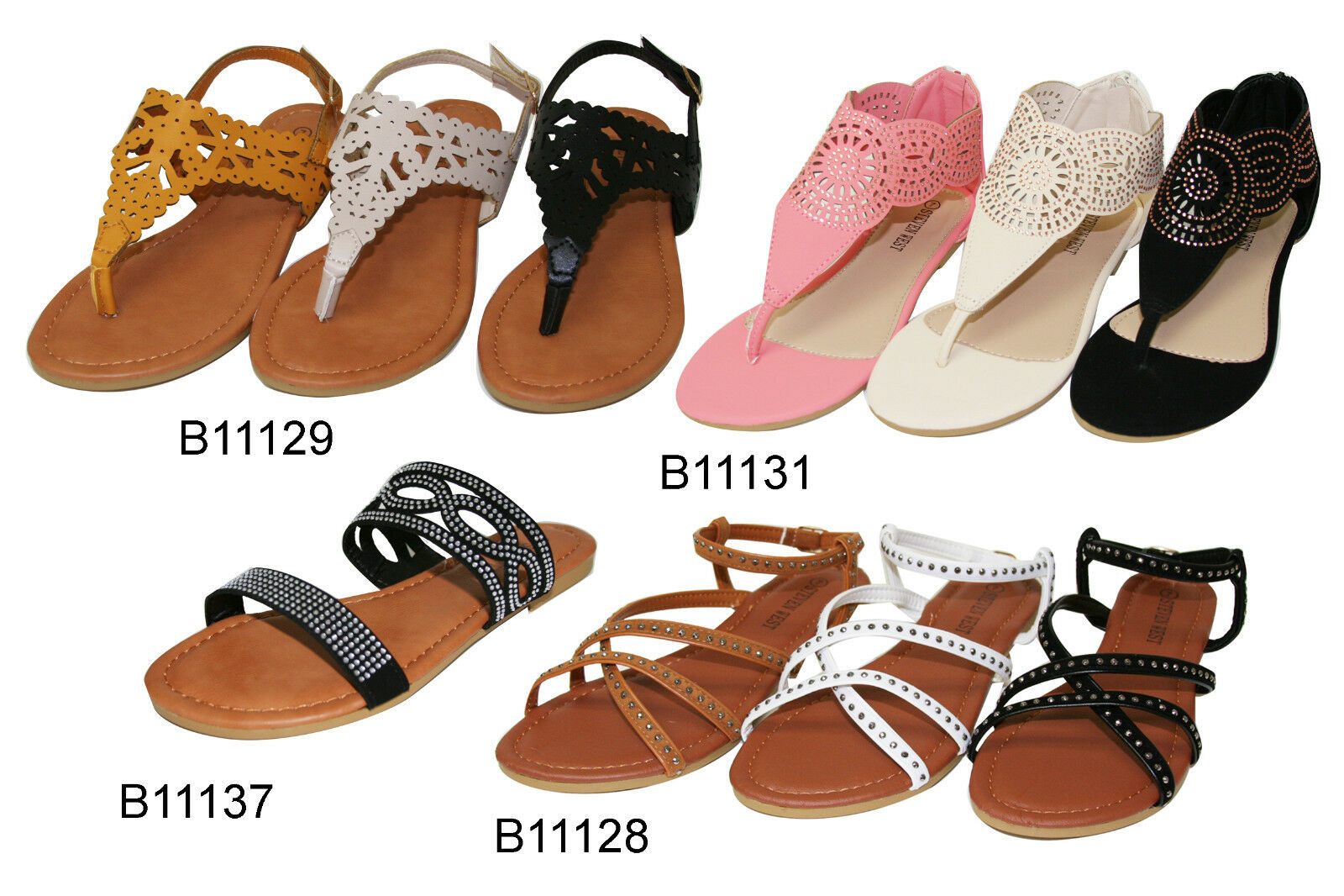 dff549950e0a Details about Women s Strappy Summer Shoes Gladiator Flats Sandals (B11128 29 31 37)