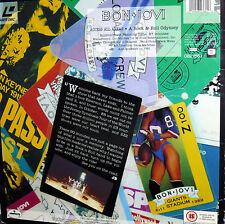 BON JOVI  LASER DISC ACCESS ALL AREAS A ROCK & ROLL ODYSSEY STEREO DIGITAL AUDIO