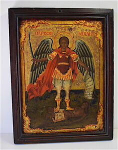 Icone-Russe-ange-et-Christ-RELIGION-XIX-eme-RUSSIE-RUSSIA-RELIGION