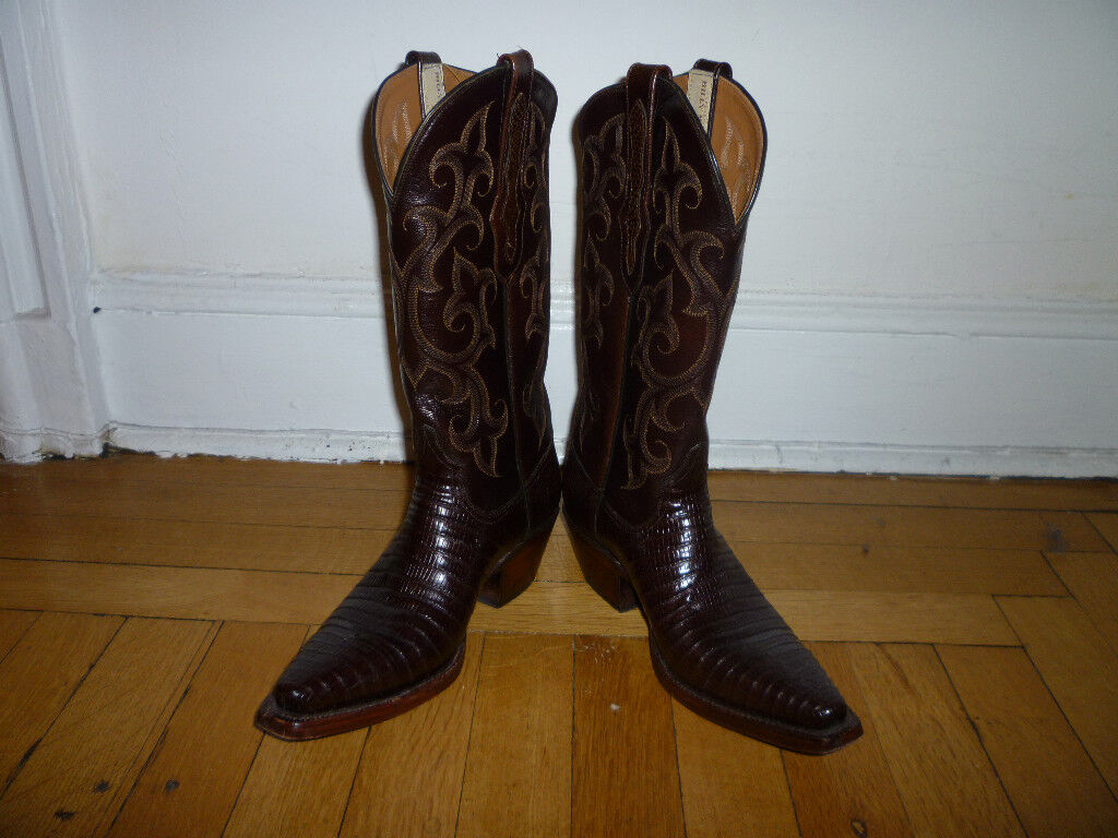 BILLY MARTIN Brown Lizard Cowboy Boots, 6B, Worn just 2 times!!