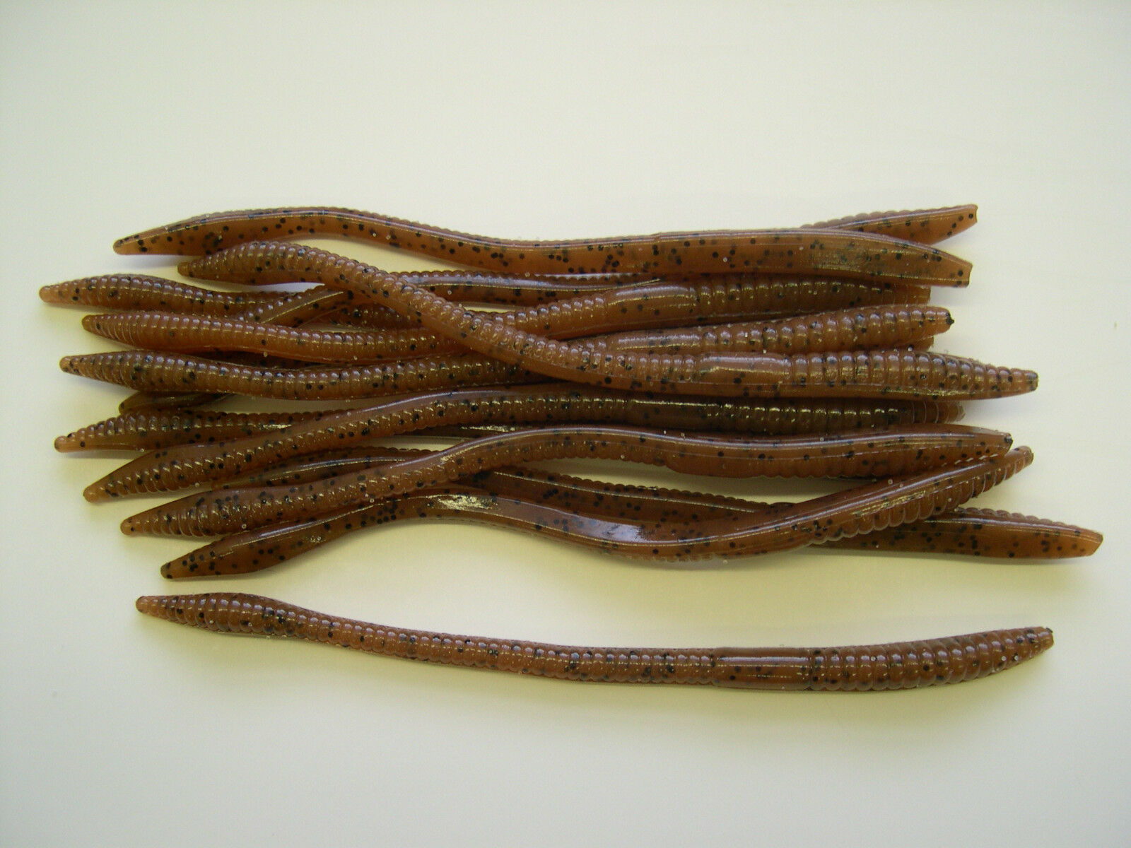 100 pk - 6  Finesse Worms - Pumpkinseed - SALT & SCENT - Bulk Lot - Bass Lures