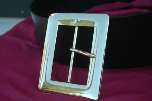 """4/"""" Buckle and//or Belt HIGH Quality Solid Brass for Santa Rennie Pirate SCA LARP"""