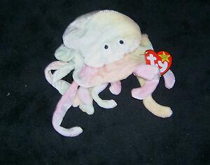 TY-original-beanie-baby-GOOCHY-the-Jellyfish-Date-Of-Birth-11-18-1998-New