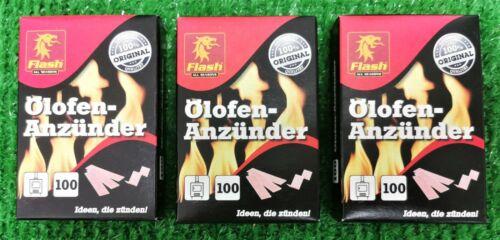 fiable-Sûre-propre Flash Poêle allumeurs 3x100 il Boîte
