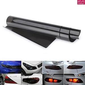 30x120cm-Voiture-Film-Teinte-Noir-Phare-Feux-Arriere-Antibrouillard-Adhesif-BT