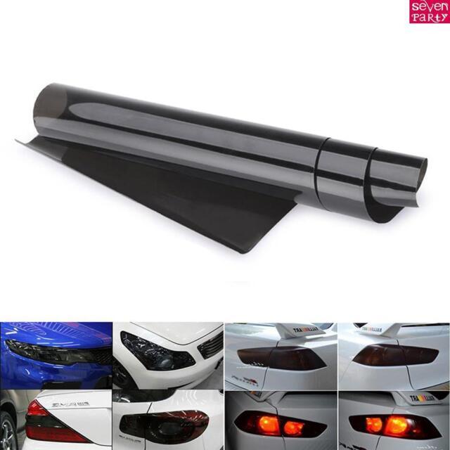 Headlight Tint Film Decal Car VAN Tail Fog Light Vinyl Wrap 30x120CM  Dark Black