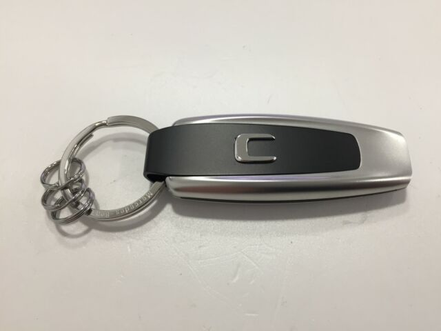 Mercedes-Benz Schlüsselanhänger Typo C-Klasse - Edelstahl-silber-schwarz - NEU