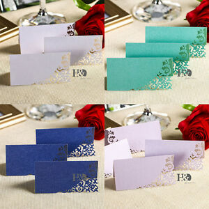 Laser Cut Paper Wedding Celebration Meal Table Place Name Cards Table Decoration