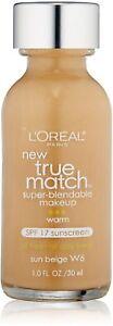 L-039-Oreal-Paris-True-Match-Super-Blendable-Makeup-Sun-Beige-W6-1-oz-YOU-CHOOSE