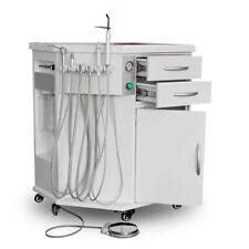 600w Dental Delivery System Cart Unit 4h With Compressor Curing Lightscaler