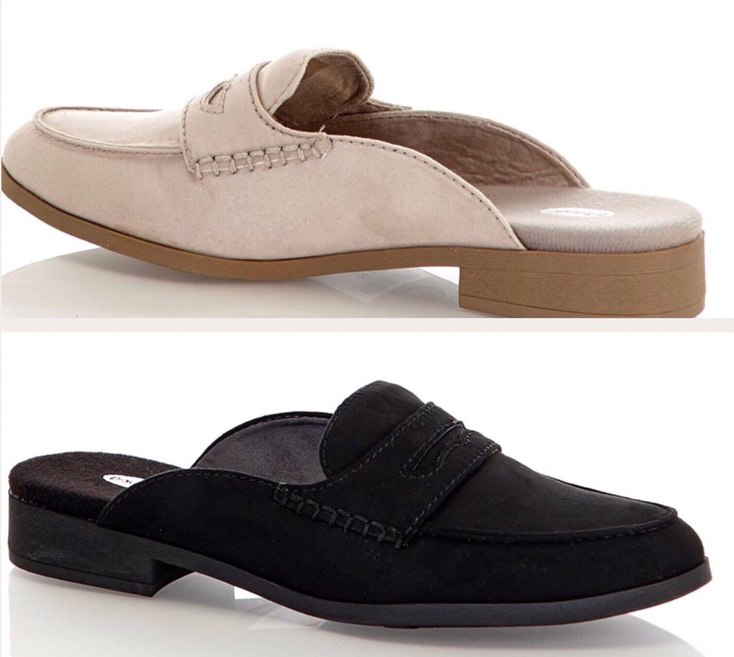 Dr Scholls Tailored Mules Beige Shoes Clogs Slides Black Beige Mules Women 6 7 8 9 10 NEW bef00c