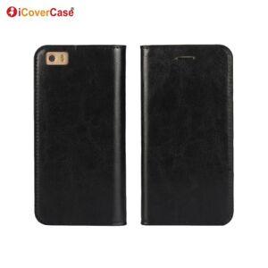 Luxe-en-Cuir-Veritable-Portefeuille-Flip-Case-Stand-Cover-Pour-Xiaomi-Mi-5