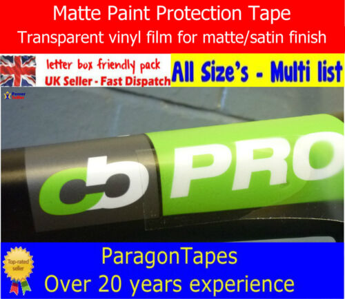 *CLEAR MATTE* Bike Frame Protection Tape Satin Helicopter Heli film Patch Paint