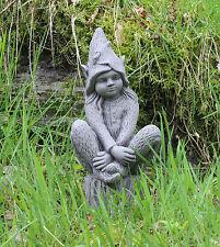 Pixie fairy Garden Ornament Decor gargoyle sculpture Concrete statue decorative