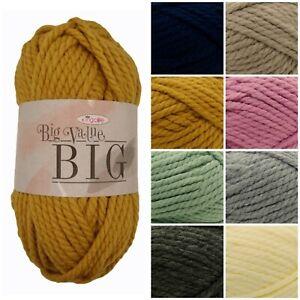 King-Cole-Big-Value-BIG-Super-Chunky-Premium-Acrylic-Knitting-Yarn-250g