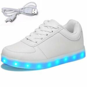 ATHLETIC FLASH LED RECHARGE LIGHT~YOUTH 2//3//4//5//6~LOW CUT SHOES~LACE UP SNEAKER