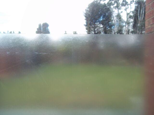 3 Metre FROSTED PRIVACY FROSTY GLASS EFFECT STICKY BACK PLASTIC VINYL FILM new
