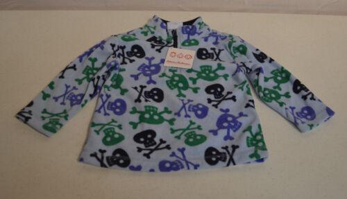 Hanna Andersson ¼ Zip Kid's Fleece Shirt-SKULLS-6X-7-NWT