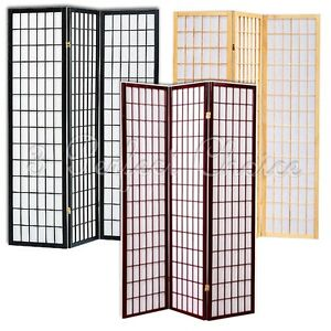 Magnificent Details About Local Pick Up Only 3 Folding Panel Wood Shoji Room Divider Screen Oriental Lines Home Interior And Landscaping Ologienasavecom