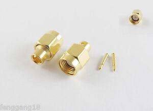 "100pcs RP-SMA Male Female Pin Solder Semi-Rigid RG402 0.141/"" Cable RF Connector"